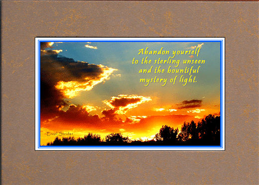 Sunset picture with saying,